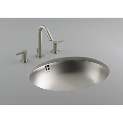 Bachata Stainless Steel Bathroom Sink with Overflow - K-2609-NA