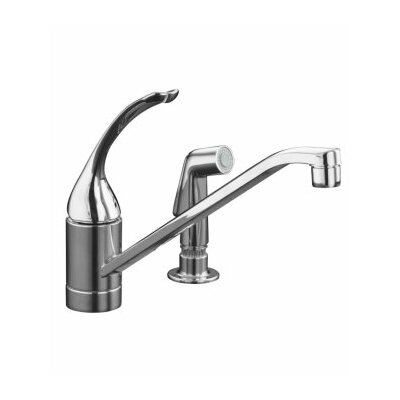 "Kohler Coralais Single-Control Kitchen Faucet with 10"" Spout, Color-Matched Sprayhead and Loop Handle, Less Escutcheon"