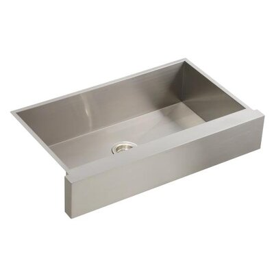 "Kohler Vault Single Basin Stainless Steel Sink with Shortened Apron Front for 36"" Cabinet"