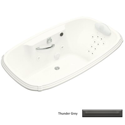 "Kohler Portrait 67"" x 42"" Drop-in Whirlpool with Massage Experience and Left-Hand Pump"