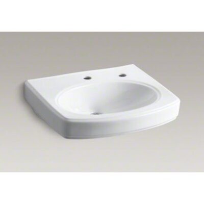 Kohler Pinoir Lavatory Basin with Single-Hole Drilling and Right-Hand Soap Dispenser