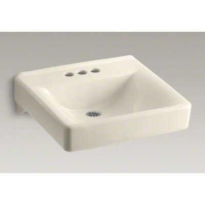 Kohler Soho Wall-Mounted Or Concealed Carrier Arm Mounted Commercial Bathroom Sink