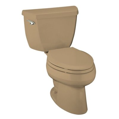 Kohler Wellworth Classic 1.0 GPF Elongated 2 Piece Toilet with Pressure Lite Flushing Technology and Less Seat