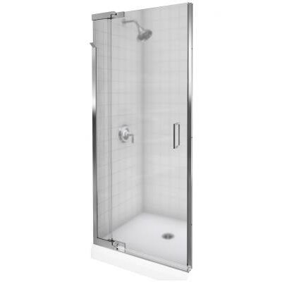 "Kohler Purist Frameless PIVot Shower Door with 0.25"" Thick Frosted Glass, 39"" - 42"" x 72"""