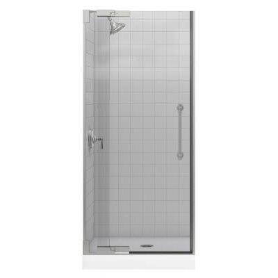 "Kohler Pinstripe Frameless PIVot Shower Door with 0.38"" Crystal Clear Glass, 30.25"" - 32.38"" x 72.25"""