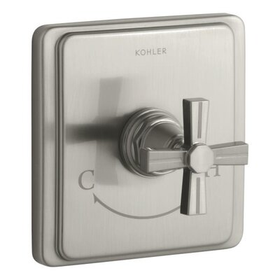 Kohler Pinstripe Valve Trim with Cross Handle For Thermostatic Valve