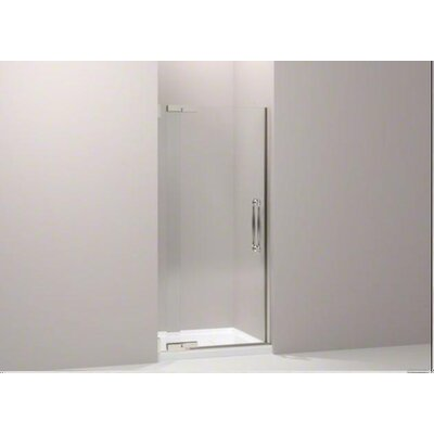 "Kohler Finial Frameless Pivot Shower Door with .5"" Thick Crystal Clear Glass, 36.25"" - 38.75"" X 72.25"""