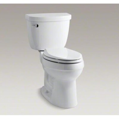 Kohler Cimarron Comfort Height 1.28 GPF Elongated 2 Piece Toilet with Class Five Flushing Technology and Left Hand Trip Lever
