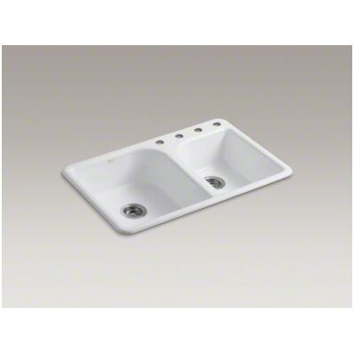 "Kohler Efficiency 33"" x 22"" Self Rimming Kitchen Sink"