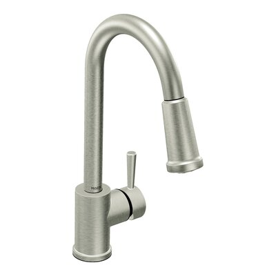 Level One Handle Single Hole High Arc Kitchen Faucet with Pullout Spray