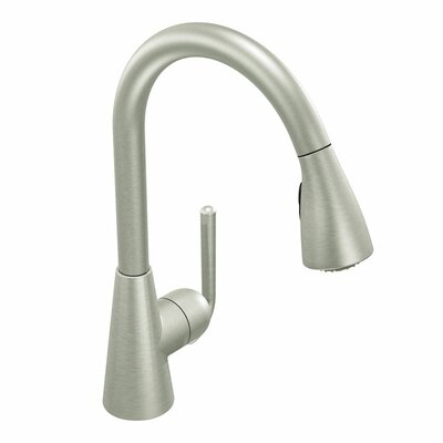 Ascent One Handle Single Hole High Arc Pull Down Kitchen Faucet with 68