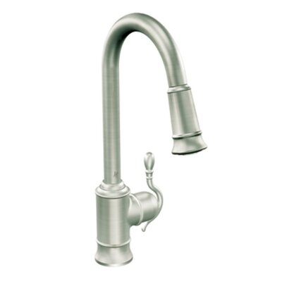 Woodmere One Handle Single Hole High Arc Pull Down Kitchen Faucet with 68