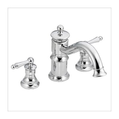Moen Waterhill Double Handle Roman Tub Faucet in Chrome