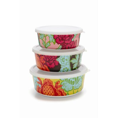 French Bull Tapestry Storage Container Set