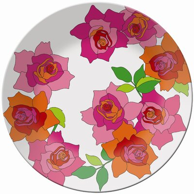 French Bull Rose Round Platter