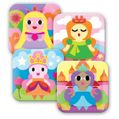 French Bull Princess Kids Plates (Set of 4)