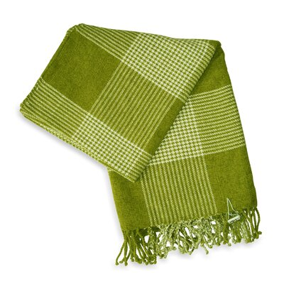 Jovi Home Bucolic Chenille Throw in Green