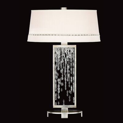 Fine Art Lamps Cascades One Light Table Lamp in Silver Leaf