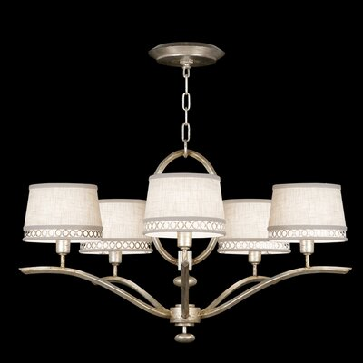 Allegretto Silver 5 Light Chandelier