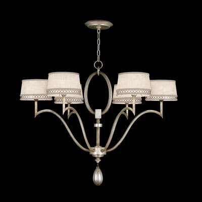 Fine Art Lamps Allegretto Silver 6 Light Chandelier