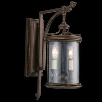 Fine Art Lamps Louvre 2 Light Outdoor Wall Lantern