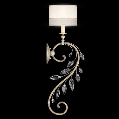 Fine Art Lamps Crystal Laurel Gold 1 Light Wall Sconce