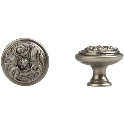 Louis XV Round Knob in Old Iron