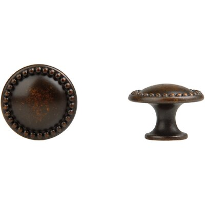Louis XVI Round Knob in Oil Rubbed Bronze