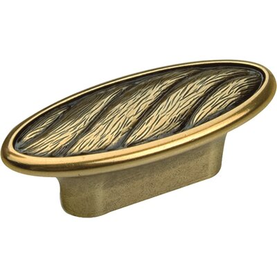 Bosetti-Marella Viaggio Series Oval Knob in Light Antique Brass