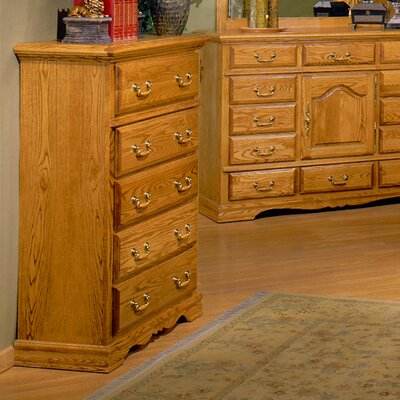 Bebe Furniture Country Heirloom 5 Drawer Chest