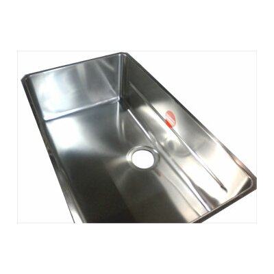 "Franke Kubus 28"" Stainless Steel Single Bowl Kitchen Sink"
