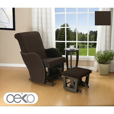 Oeko Quinn Glider Rocker with Ottoman and Side Table