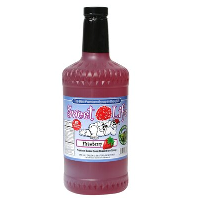 Great Northern Popcorn Strawberry Sweet Life Premium Snow Cone Syrup