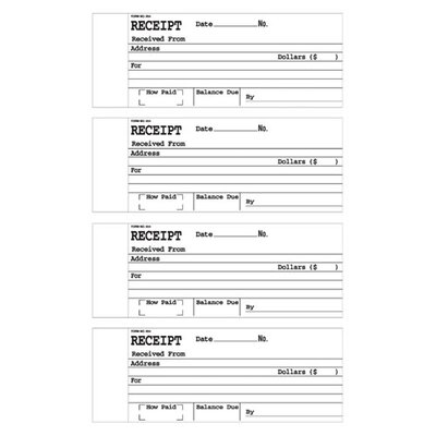 Sparco Products Sparco 2-Part Receipt Book