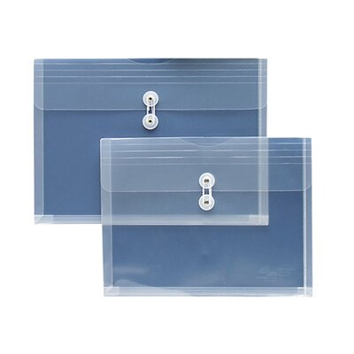 "Sparco Products String A Long Poly Hide Envelope, Side Open, 1"" Expansion, Legal, Clear"