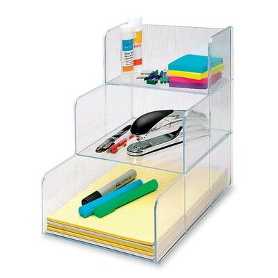 "Sparco Products Storage Oraginzer, 3 Compartment, 12""x9-3/8""x12"", Clear"