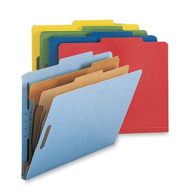 Sparco Products Classification Folders, w/ Fstnrs, 2 Dvdrs, Letter, 10 per Box