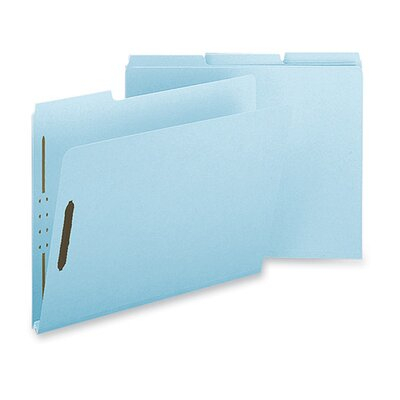 "Sparco Products Pressboard Fastener Folder, Letter, 25/BX, 1"" Expansion, Light Blue"