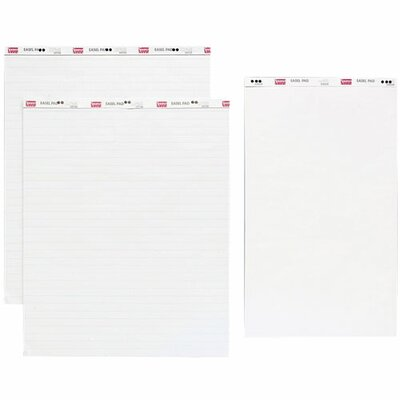 "Sparco Products Standard Easel Pad, Plain, 20""x34"", 40 Sheets, 4/CT, White"