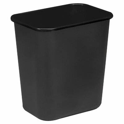 "Sparco Products Rectangle Wastebasket, 28 Quart, 14-1/2""x10-1/2""x15"", Black"