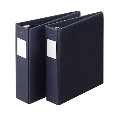 "Sparco Products 3 Ring Label Hold Binder, 11""x8-1/2"", Black, Various Sizes"