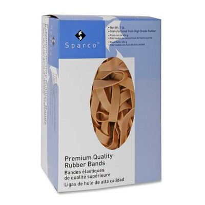 "Sparco Products Rubber Bands,1/4 lb.,Approx. 106 per Box,Size 64,3-1/2""x1/4"",Natural"