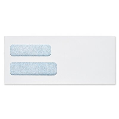 "Sparco Products Double Window Envelope, No 8-5/8, 3-5/8""x8-/5/8"", 500/BX, White"