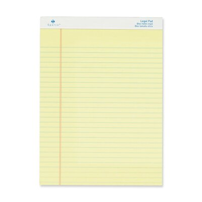 "Sparco Products Pad, Micro-Perforated Legal Ruled, 50 Sheets, 8-1/2""x11-3/4"", 12-Pack, White or Canary"