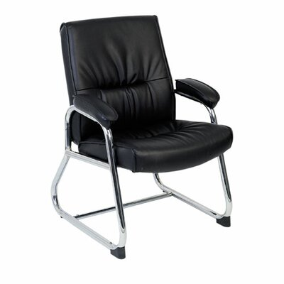 Leather Guest Chair with Metal Leg