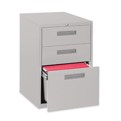 "Lorell Lorell 20"" Box/Box/File Mobile Pedestal Files, Putty"