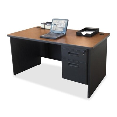 Lorell Single Pedestal Desk