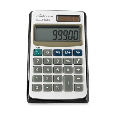 Compucessory Compucessory 8-Digit Dual Power Pocket Calculator, Ivory