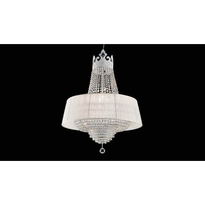 Vintage Crown Crystal Chandelier