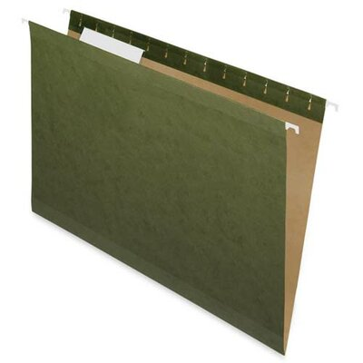 Nature Saver 100% Recycled Hanging File Folders, Green,1/5 Cut, Legal